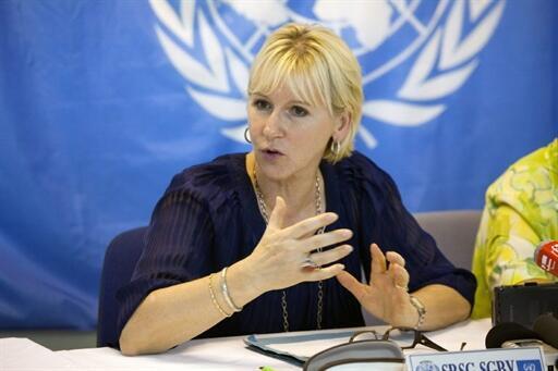 Ngoại trưởng Thụy Điển, bà Margot Wallström