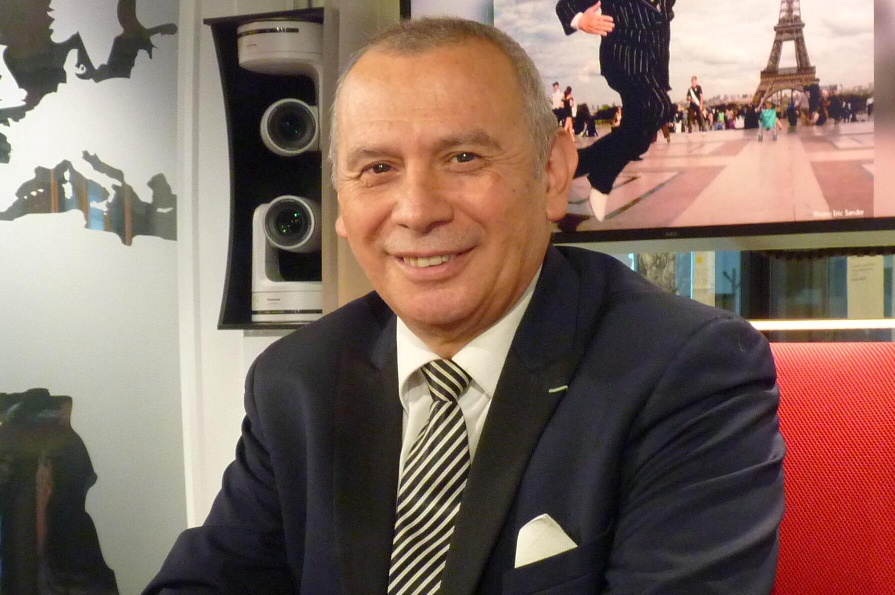 Orlando 'Coco' Días en los estudios de RFI