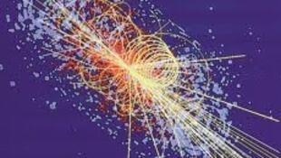 Simulación de un bosón de Higgs en el detector