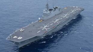 图为日本直升飞机航母「加贺号」