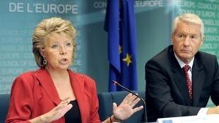 Bà Viviane Reding phụ trách tư pháp của Ủy ban Châu Âu (AFP)