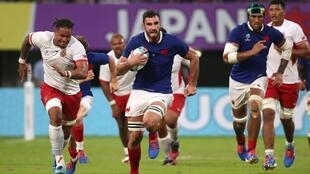 The stop-start French were harried all the way to the final whistle by a spirited Tonga side.
