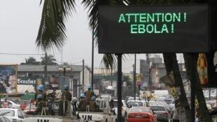 Allon gargadi game da cutar Ebola a birnin Abidjan kasar Côte d'Ivoire