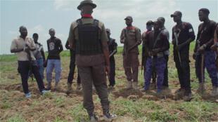 Une patrouille d'Agro Rangers déployée dans l'État de Borno, au Nigeria.
