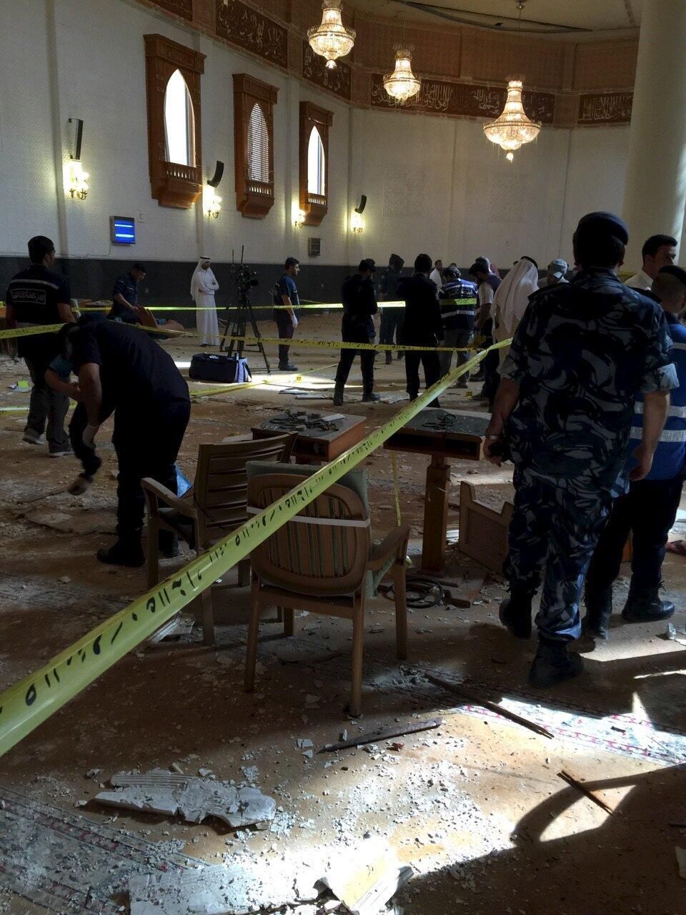 Mesquita Al Imam al Sadeq após o ataque suicida