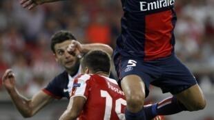 O zagueiro Marquinhos do Paris Saint-Germain.