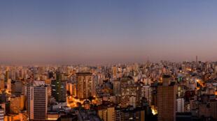 São Paulo, el mayor centro urbano de Brasil y de América Latina.