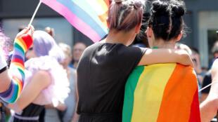 Parada Gay de Paris, em 29 de junho de 2019.