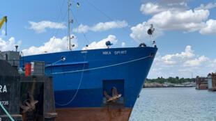 Переименованный танкер Nika Spirit в порту Измаил.