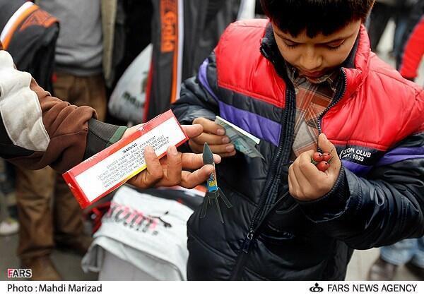 فروش ترقه و فشفشه و مواد محترقه در بازار تهران
