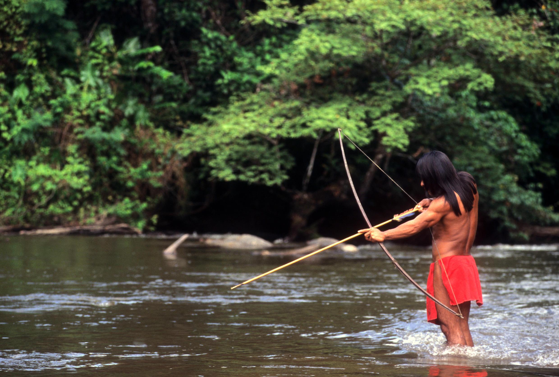 Un Amérindien d'Amazonie.