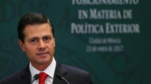 Le président mexicain sortant Enrique Peña Nieto a salué le compromis trouvé entre les trois pays de l'ex-Alena.