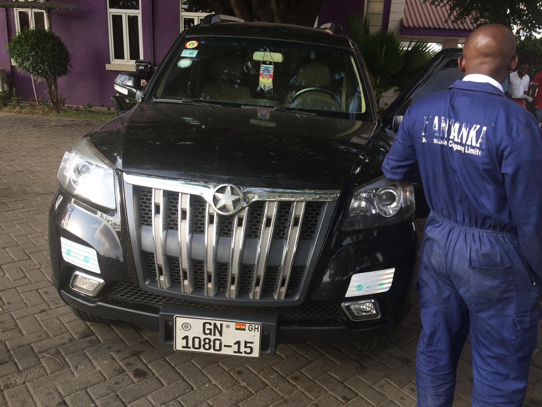A Kantanka vehicle on sale in Accra.