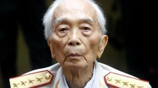 Le général Giap, à sa résidence d'Hanoï, le 4 août 2008.