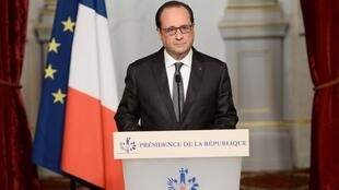 François Hollande samedi 14 novembre 2015 à Paris.