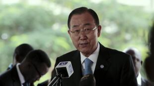 Tổng thư ký Liên Hiệp Quốc Ban Ki Moon. Ảnh chụp ngày 24/08/2015.