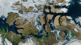 Le passage du Nord-Ouest, photographié par satellite le 9 août 2016.
