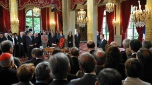 Le président François Hollande, au palais de l'Elysée.