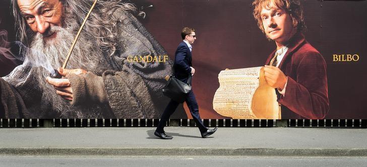 """Áp phích phim """"The Hobbit"""" dựa vào tiểu thuyết của Tolkien 11/2012."""