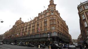 Le magasin londonien de luxe Harrods, désormais propriété du Qatar.