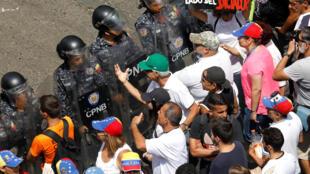 Manifestation de l'opposition contre le gouvernement vénézuélien, à Caracas, le 9 mars.