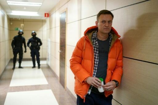 El opositor ruso Alexei Navalni, el 26 de diciembre de 2019 en un pasillo del centro de negocios de Moscú que alberga la Fundación Anticorrupción