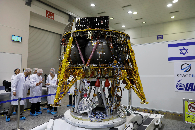 Israël a conçu un module spatial (photo) destiné à être envoyé sur la Lune.