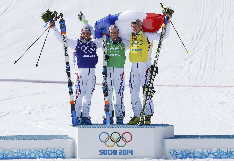 Все три медали в ски-кроссе у фристайлистов Франции Арно Боволента, Жан-Фредерика Шапюи и Джонатани Мидоля