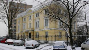 Tòa nhà theo kiến trúc tân cổ điển tại khu phố sang trọng Mokotow gần thủ đô Vacxava. (Ảnh tư liệu ngày 26/05/2005).