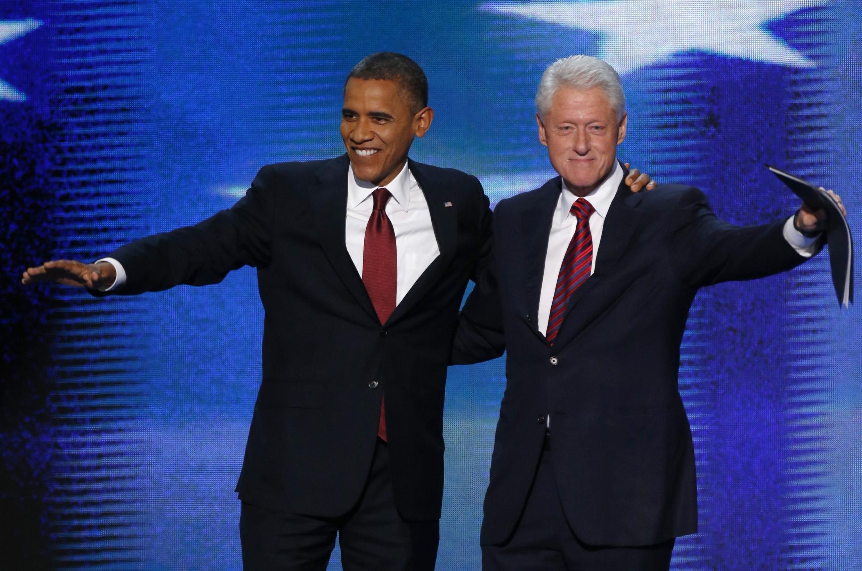 TT Obama và cựu TT Clinton tại Đại hội đảng Dân chủ. Ảnh ngày 05/09/2012.