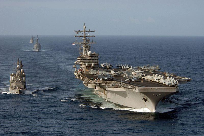 Khu trục hạm USS Ronald Reagan.