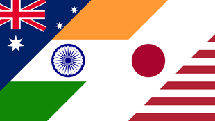 美日印澳四国国旗示意图
