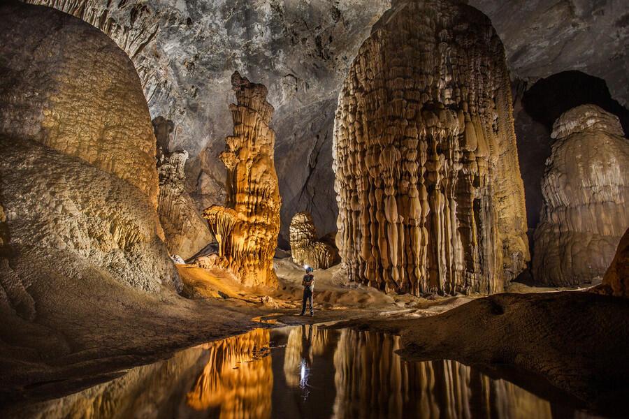 Một cảnh quan bên trong động Sơn Đoòng thuộc quần thể Phong Nha - Kẻ Bàng ở Quảng Bình.