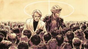 """Détail de la couverture de la bande dessinée """"La patrie des frères Werner"""", de Philippe Collin et Sébastien Goethals."""