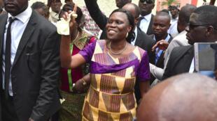 Simone Gbagbo, depois de ter sido solta no dia 8 de Agosto de 2018.