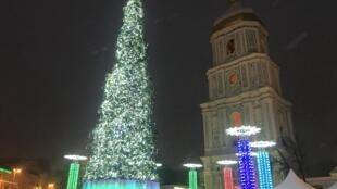 Софийская площадь Киева в канун Рождества