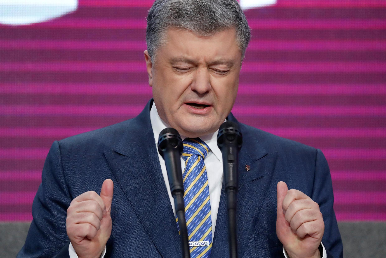 Петр Порошенко после поражения на выборах 21 апреля 2019
