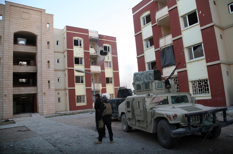 Les forces de sécurité irakienne dans les rues de Ramadi, en novembre 2014.