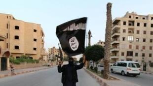 Флаг террористической группировки «Исламское государство»
