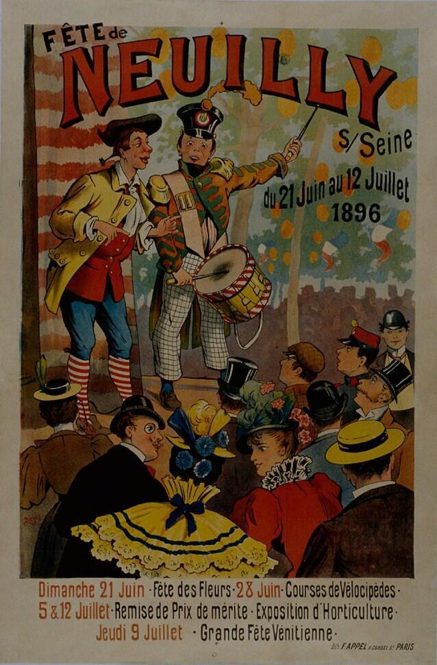 Афиша ярмарки в Нейи 1896 года