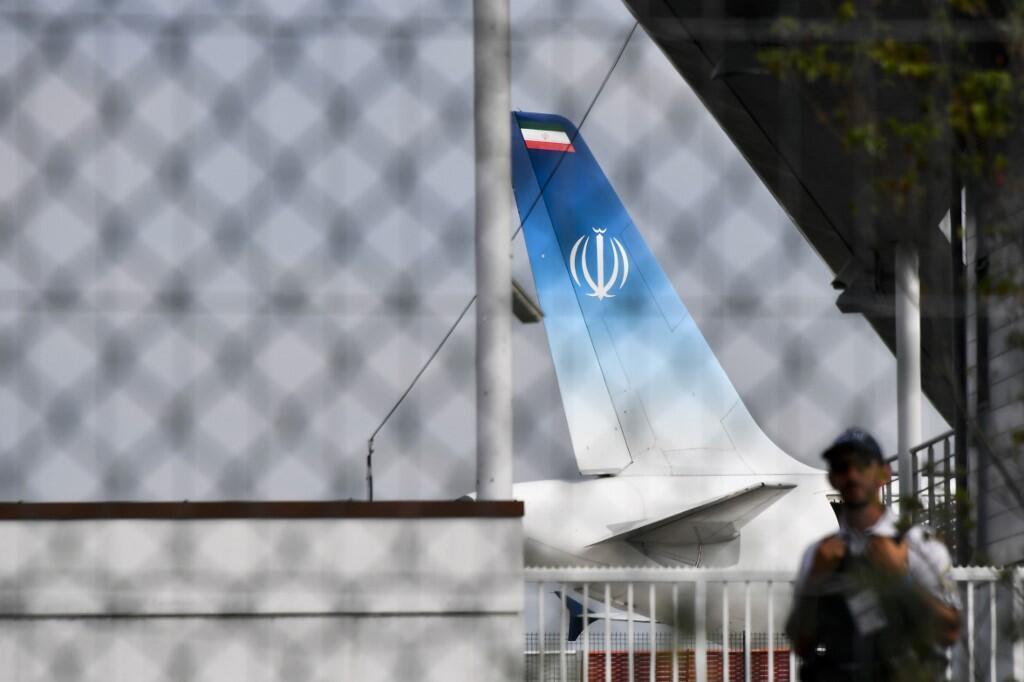 O avião do ministro das Relaçéoes Exteriores do Irã pousou no aeroporto de Biarritz na tarde deste domingo, 25 de agosto de 2019.