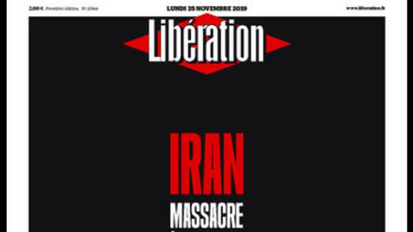 """Trang bìa nhật báo Libération hôm nay 25/11/2019 với tựa đề """"Cuộc thảm sát không nhân chứng""""."""