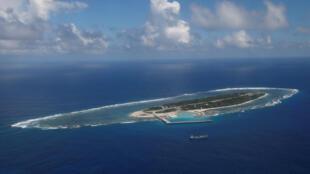 Đảo Ba Bình (Itu Aba) nhìn từ trên không. Ảnh chụp ngày 29/11/2016.