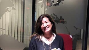 L'écrivaine Sedef Ecer en studio à RFI (janvier 2021).