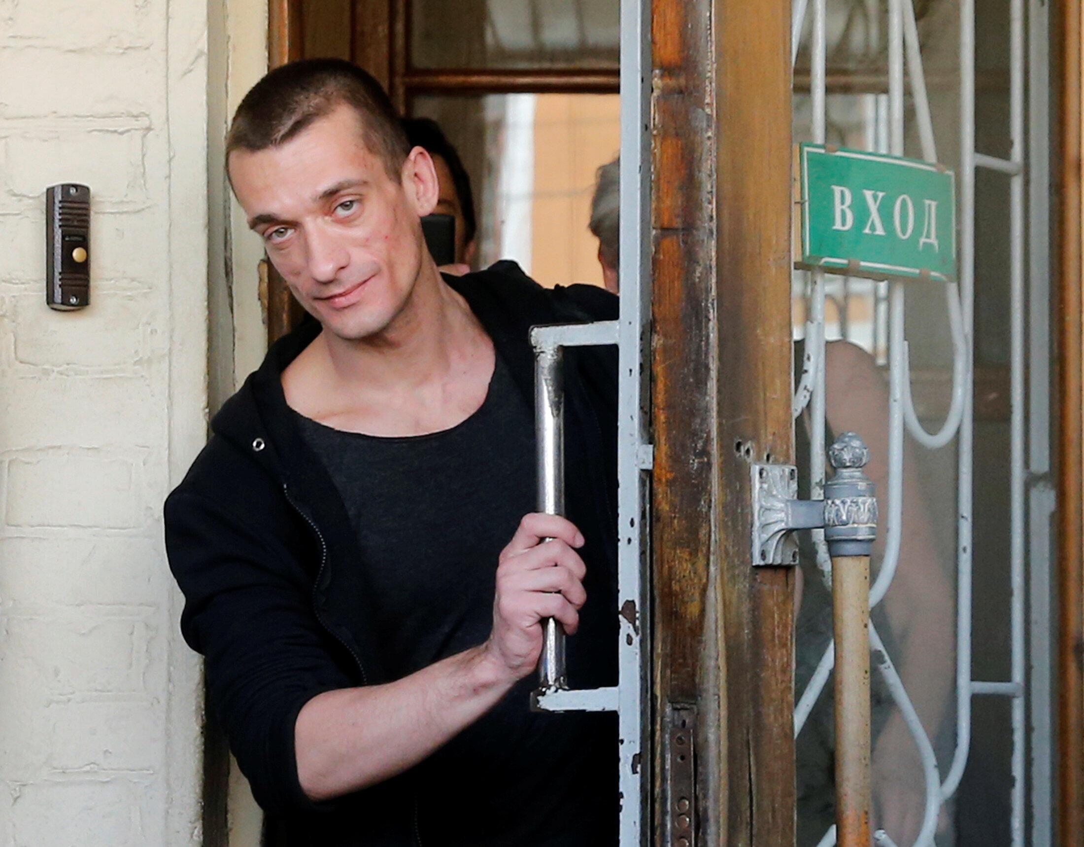 Piotr Pavlenski in Moscow, Russia, 8 June 2016.