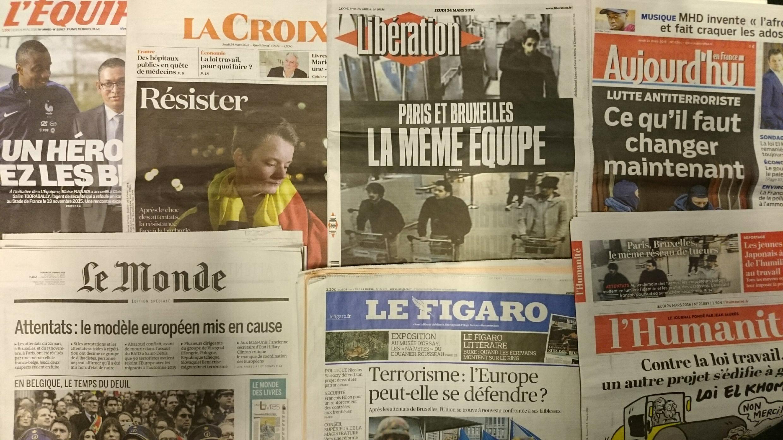 Primeiras páginas jornais franceses 24/03/2016