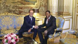 Le président du Bénin, Thomas Boni Yayi, est en visite en France où il a rencontré le président français François Hollande, le 9 juin 2015.