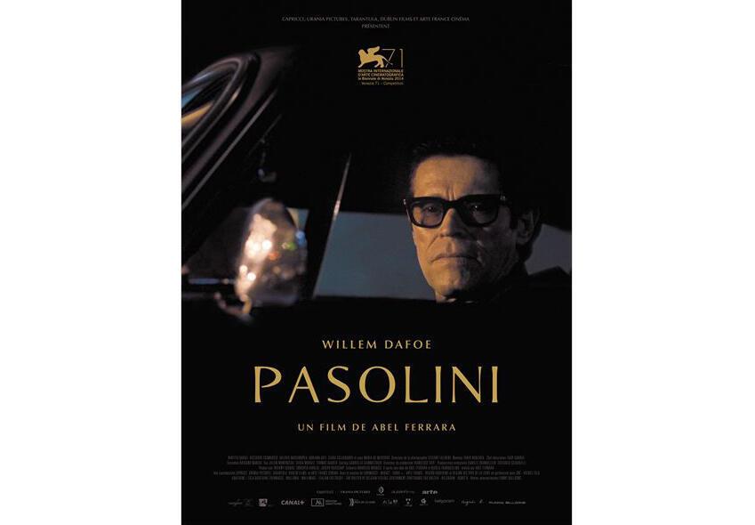 L'affiche du film «Pasolini», du réalisateur américain Abel Ferrara, en salles le 31 décembre 2014.
