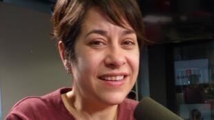 Lucía Carreras en los estuios de RFI