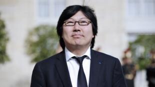 Jean-Vincent Placé, à l'Elysée, le 15 mai 2012.
